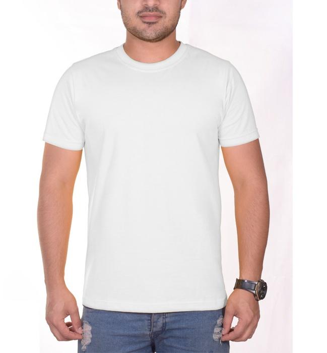 تی شرت مردانه سیمپل  مدل sw3-White main 1 2