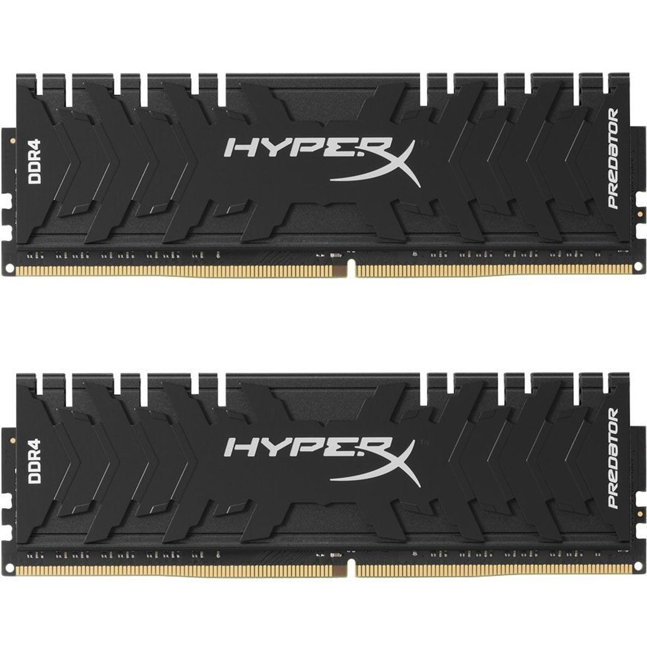 رم دسکتاپ DDR4 دو کاناله 3000 مگاهرتز CL15 کینگستون مدل HyperX Predator ظرفیت 32 گیگابایت