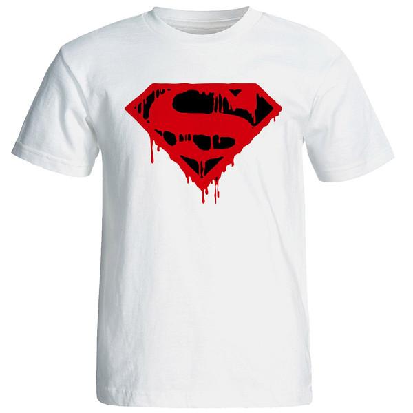 تیشرت آستین کوتاه مردانه نیکو طرح سوپرمن کد 6686
