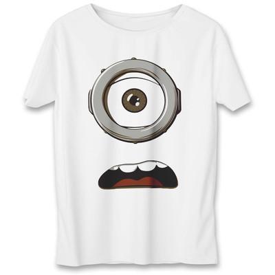 تی شرت به رسم طرح عینک مینیون کد ۵۵۱