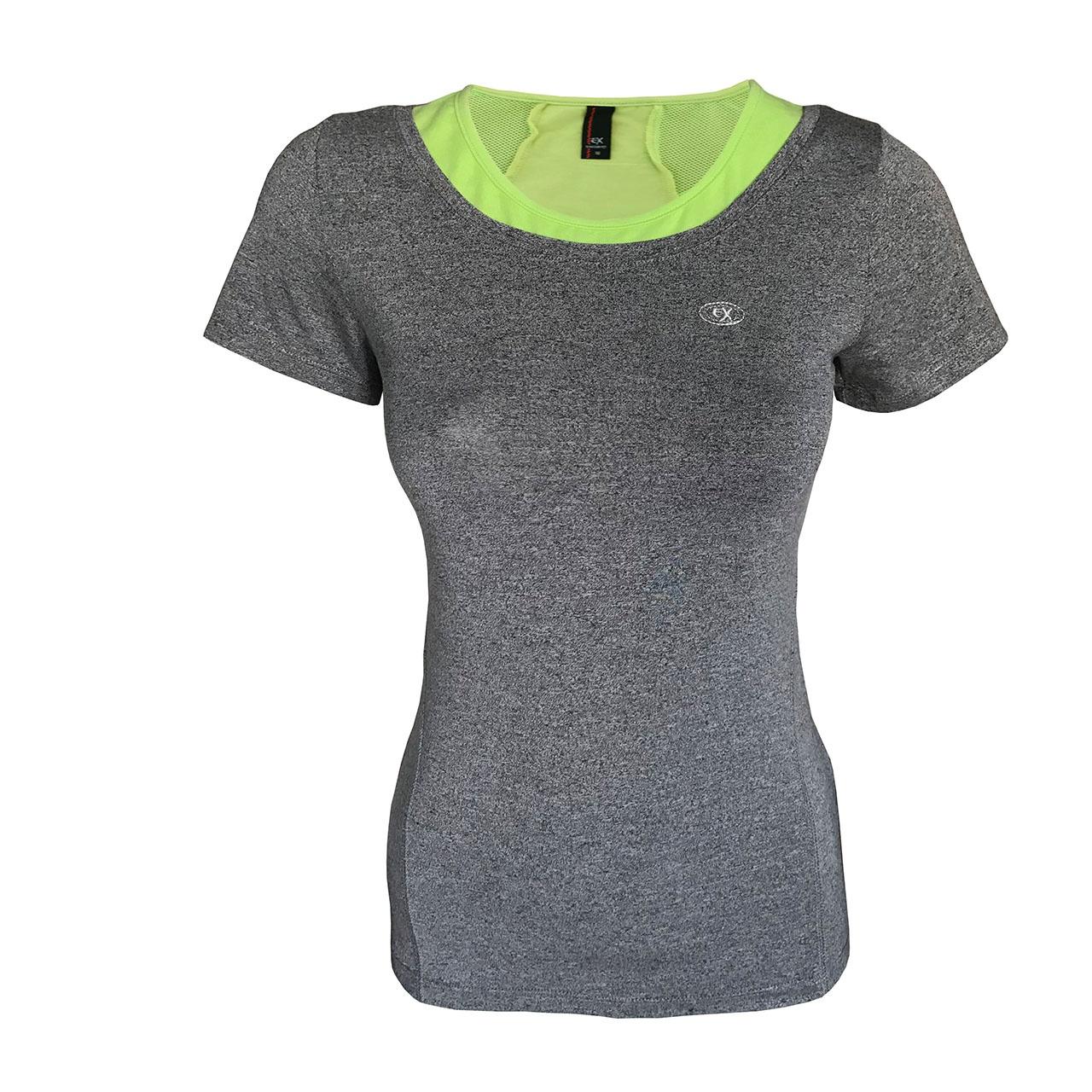 تی شرت ورزشی دخترانه ساکریکس  مدل GTSH555-GRN