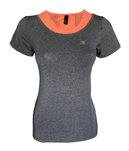تی شرت ورزشی دخترانه ساکریکس  مدل GTSH555-ORG