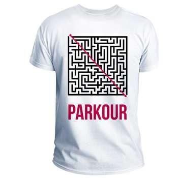 تی شرت انارچاپ طرح پارکور مدل T02006