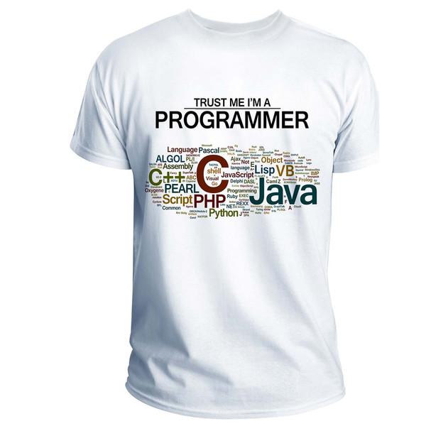 تی شرت انارچاپ طرح برنامه نویس مدل T03006