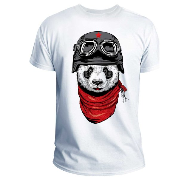 تی شرت انارچاپ طرح پاندا مدل T01008