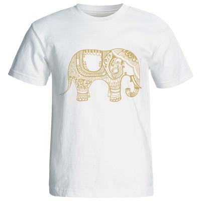 تیشرت زنانه گورانا طرح فیل هندی 12042