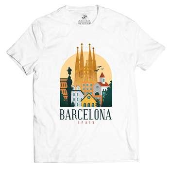 تیشرت آستین کوتاه پاتیلوک طرح بارسلونا مدل 330179