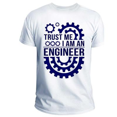 تی شرت انارچاپ طرح مهندسی مدل T03005