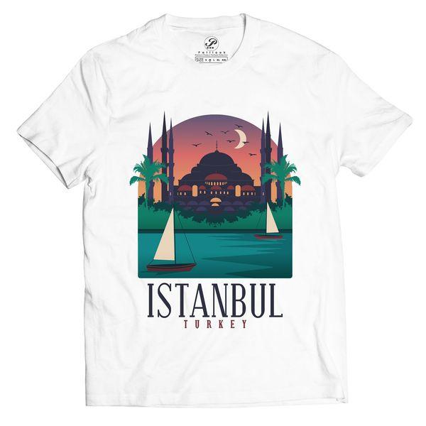 تیشرت آستین کوتاه پاتیلوک طرح استانبول مدل 330213