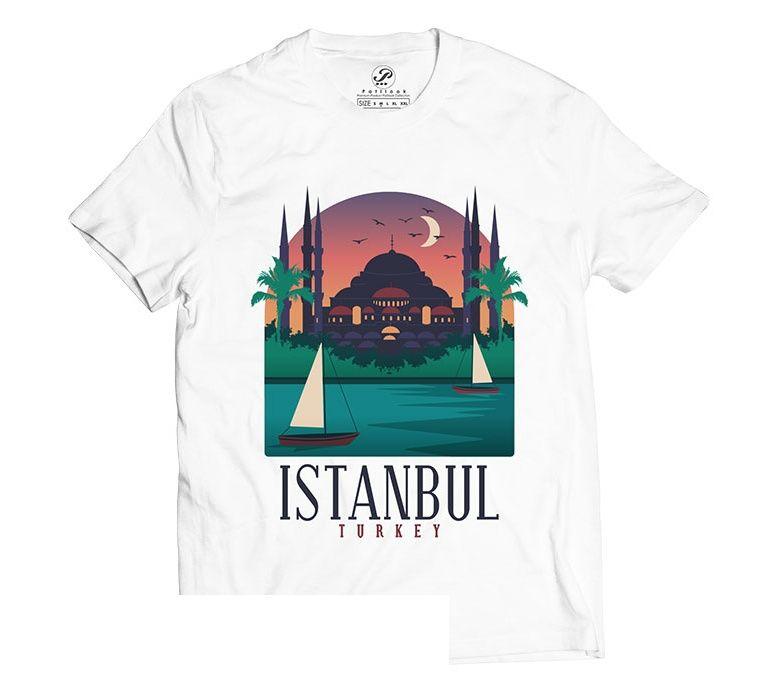 تیشرت آستین کوتاه پاتیلوک طرح استانبول مدل 330213 main 1 1