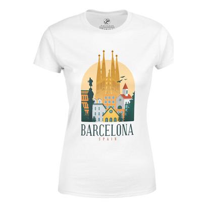 تیشرت آستین کوتاه پاتیلوک طرح بارسلونا مدل 330182