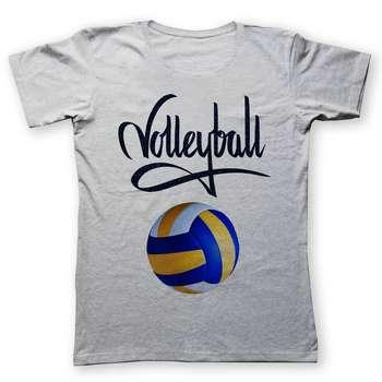 تی شرت زنانه به رسم طرح والیبال کد 442