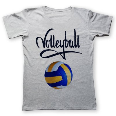 تی شرت زنانه به رسم طرح والیبال کد ۴۴۲