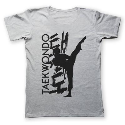 تی شرت زنانه به رسم طرح تکواندو کد 448