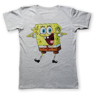 Photo of تی شرت زنانه به رسم طرح باب اسفنجی کد 445