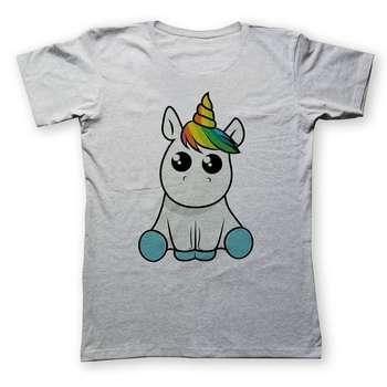 تی شرت زنانه به رسم طرح اسب تکشاخ کد 446