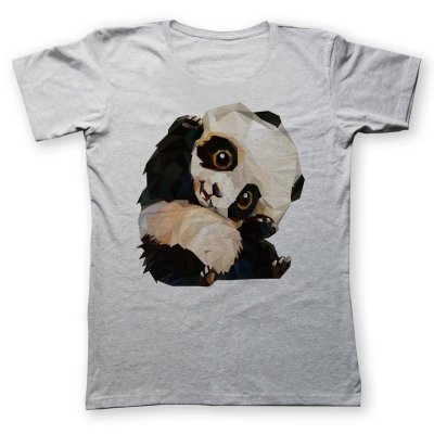 تی شرت زنانه به رسم طرح پاندا کد 433