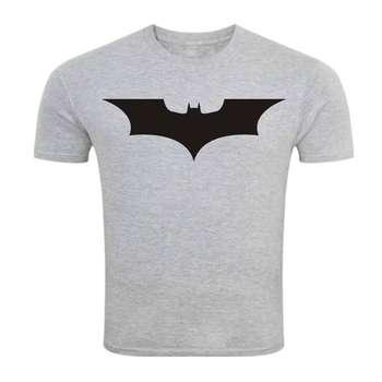 تی شرت آستین کوتاه ملانژ سالامین طرح بتمن کد SA144