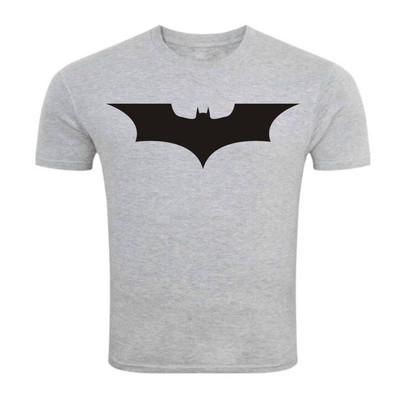 تصویر تی شرت آستین کوتاه ملانژ سالامین طرح بتمن کد SA144