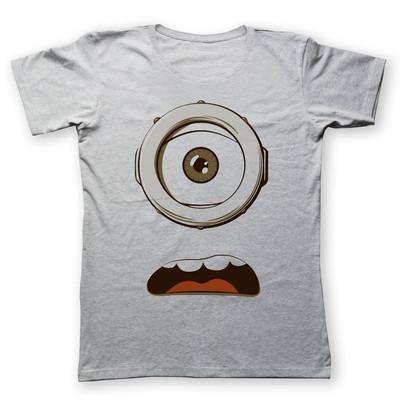 تصویر تی شرت زنانه به رسم طرح عینک مینیون کد 451