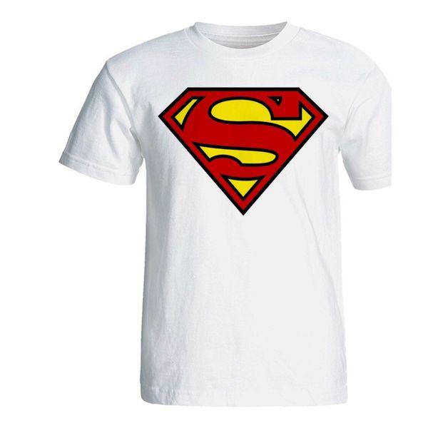 تی شرت آستین کوتاه سفید سالامین طرح سوپرمن کد SA126