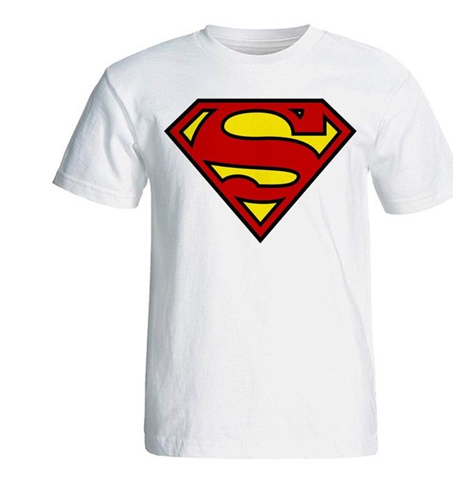 تی شرت آستین کوتاه سفید سالامین طرح سوپرمن کد SA126 main 1 1