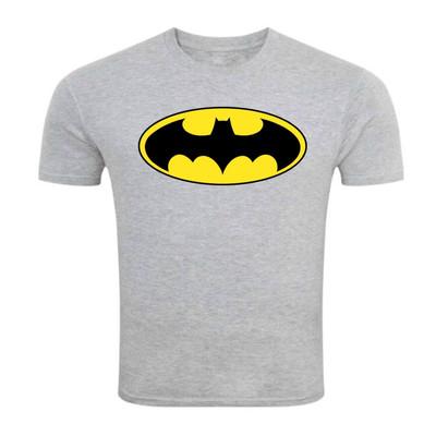 تی شرت آستین کوتاه ملانژ سالامین طرح بتمن کد SA146