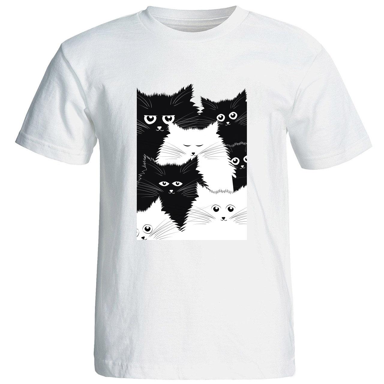 تی شرت استین کوتاه زنانه الی شاپ طرح 12542