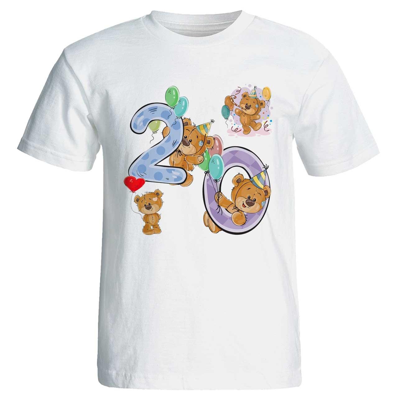 تصویر تی شرت آستین کوتاه طرح کیک تولد کد 3520