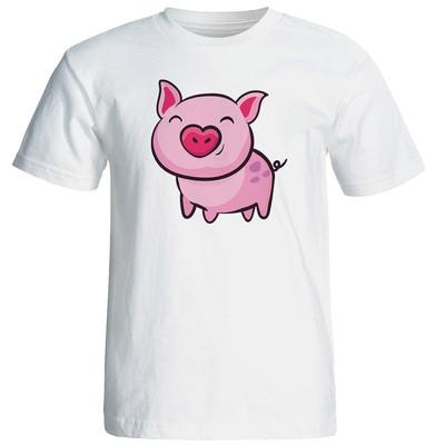 تی شرت زنانه رادیکال طرح خوک کد 3163
