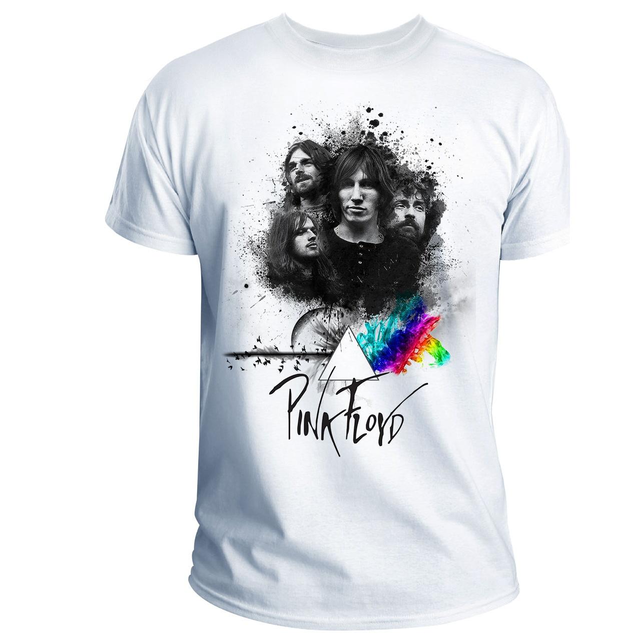 تی شرت انارچاپ طرح پینک فلوید مدل T06003