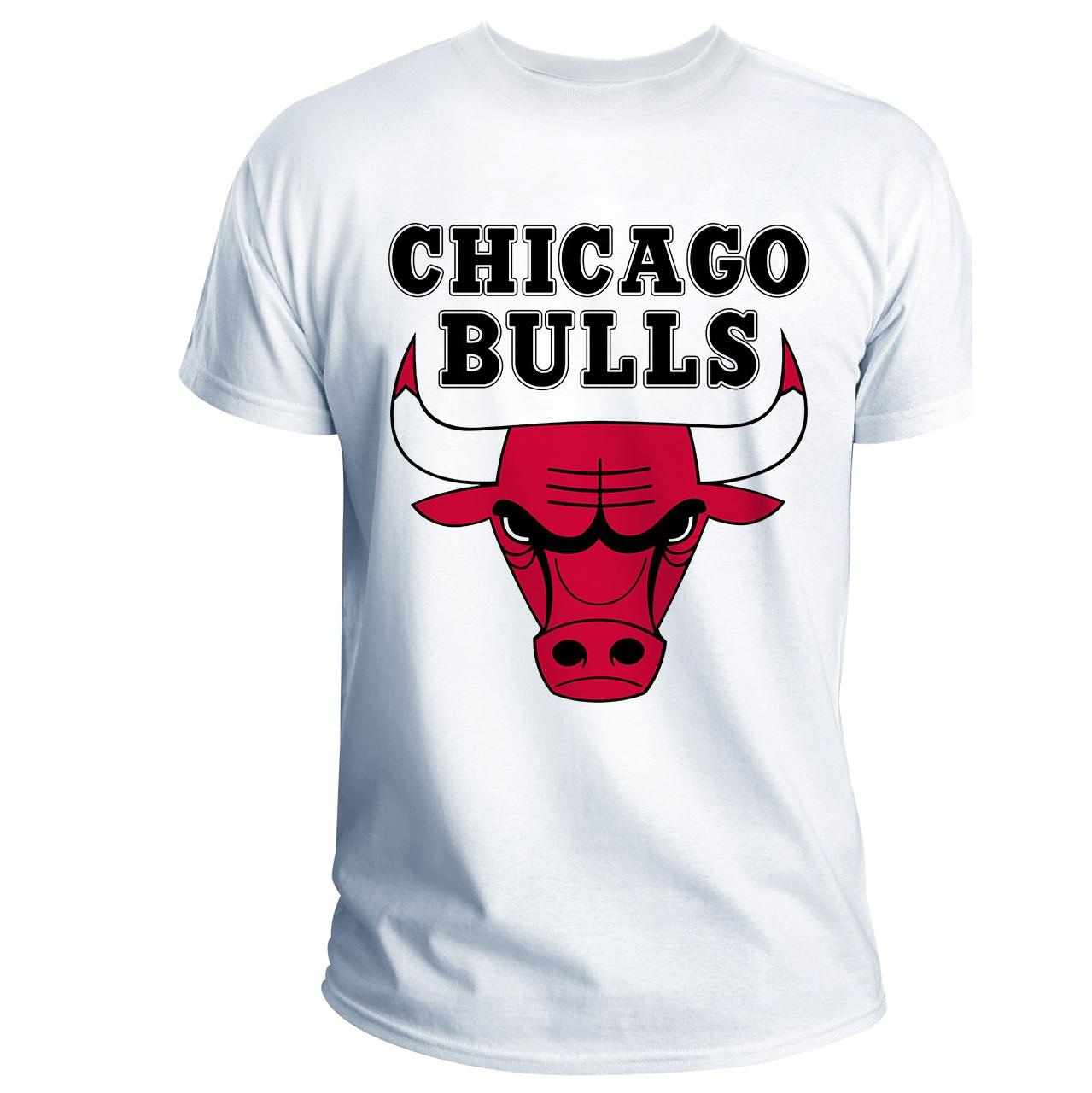 تی شرت انارچاپ طرح شیکاگو بولز مدل T05002