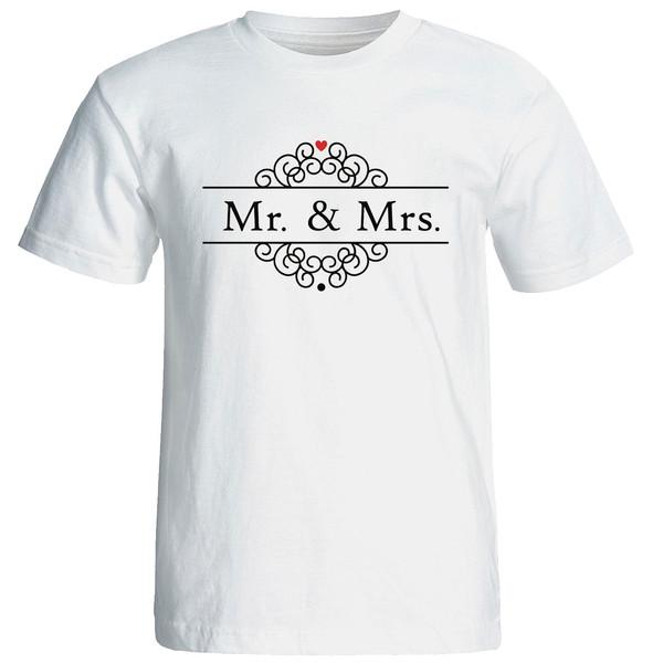 تی شرت زنانه الی شاپ طرح خانوم و اقا کد  12624