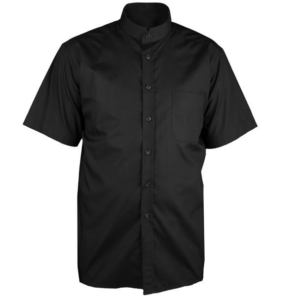 پیراهن آستین بلند مردانه اطمینان مدل یقه کوتاه