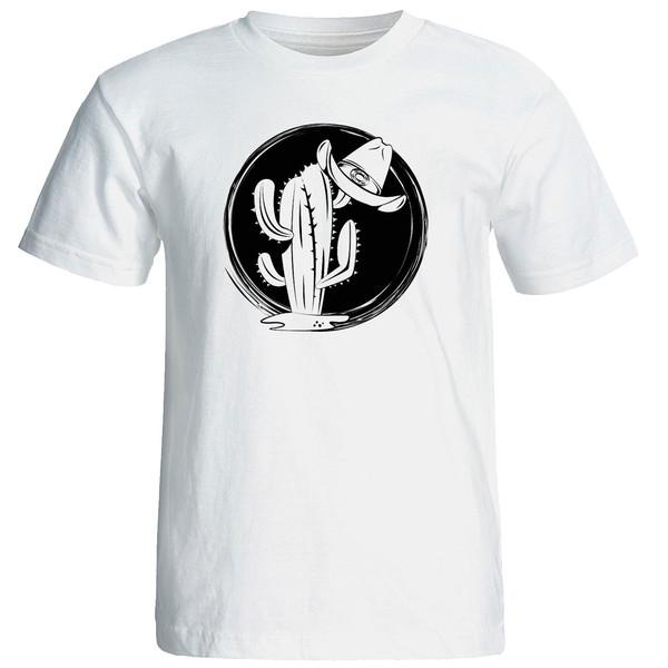 تی شرت استین کوتاه زنانه الی شاپ طرح کاکتوس کد 12629
