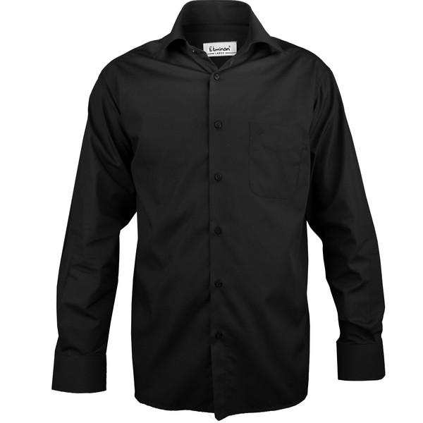 پیراهن آستین بلند مردانه اطمینان مدل یقه کلاسیک