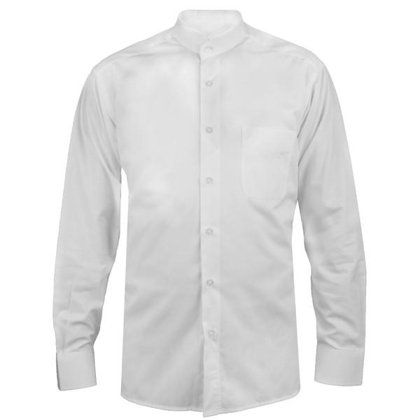پیراهن آستین بلند مردانه اطمینان مدل یقه دیپلمات