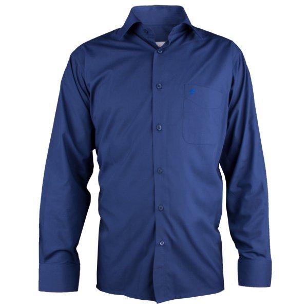 پیراهن آستین بلند مردانه اطمینان مدل آبی اقیانوسی