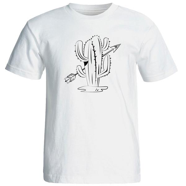 تی شرت استین کوتاه مردانه الی شاپ طرح کاکتوس کد 12628