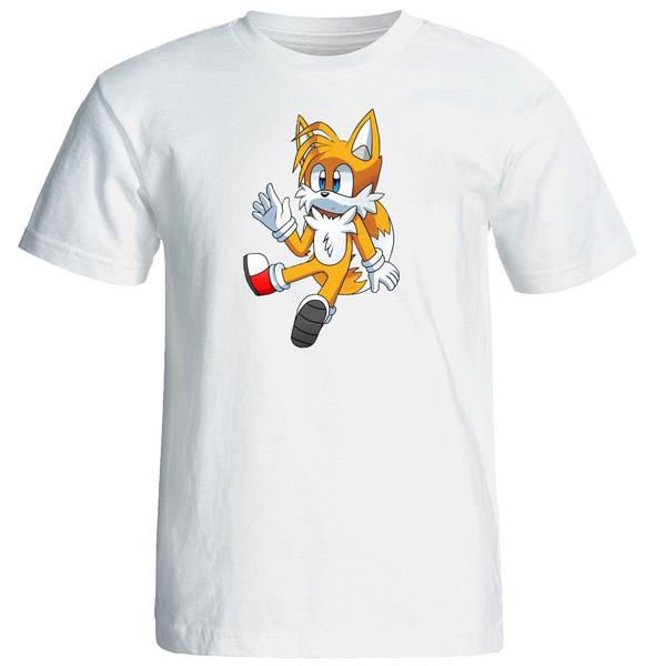 تی شرت استین کوتاه زنانه الی شاپ طرح سونیک کد  12634