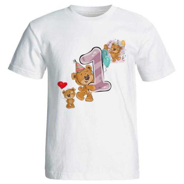 تی شرت آستین کوتاه مارس طرح تولد یک سالگی کد 3501