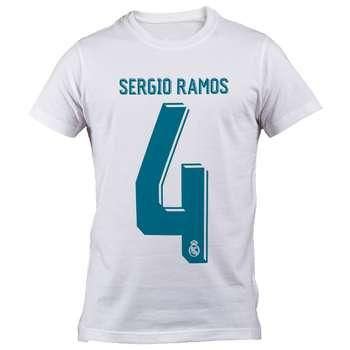 تی شرت  مردانه رئال مادرید طرح راموس شماره 4  مدل B 60712