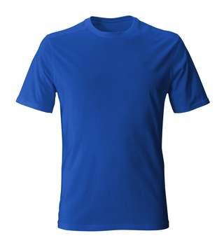 تیشرت آبی ساده مردانه
