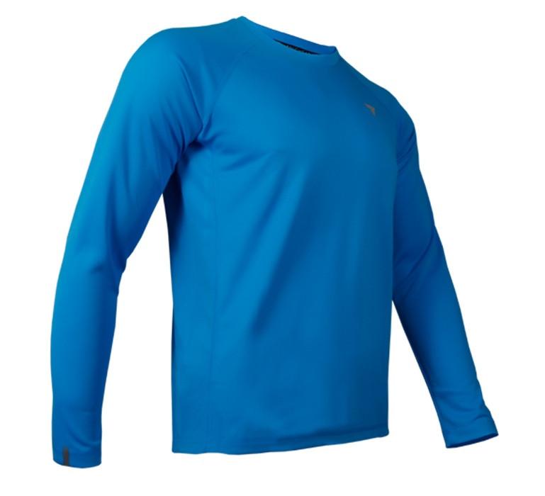تیشرت آستین بلند ورزشی مردانه ترِک ویر مدل Cooltrec 019 Blue