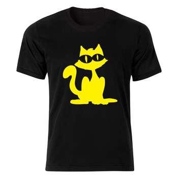 تی شرت آستین کوتاه مردانه طرح گربه کد By 4722