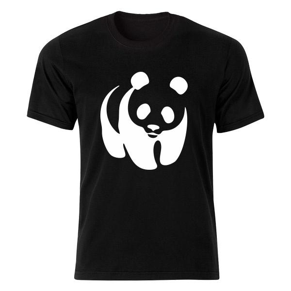 تصویر تی شرت آستین کوتاه مردانه طرح پاندا کد 4763 BW