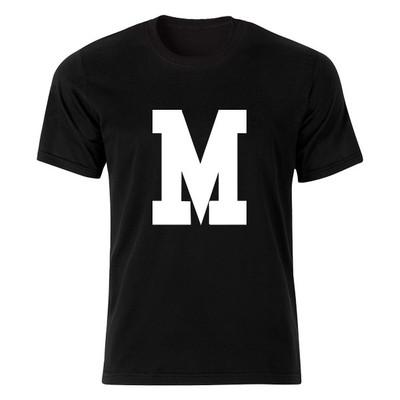تی شرت آستین کوتاه مردانه طرح حروف اول اسم ام کد 4751
