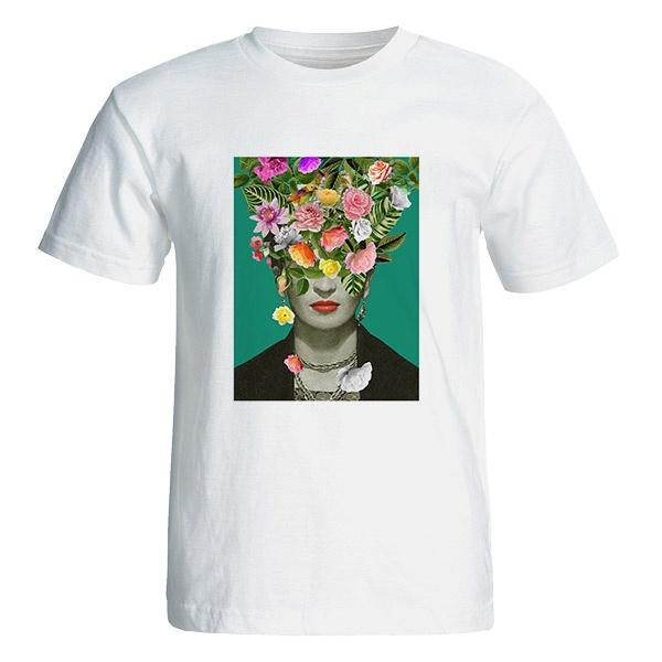 تصویر تی شرت آستین کوتاه زنانه طرح فریدا کد 4816