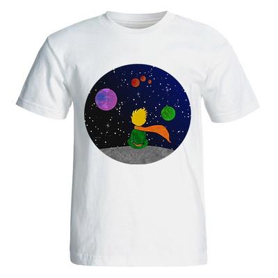 تصویر تی شرت آستین کوتاه زنانه طرح شازده کوچولو کد 4775