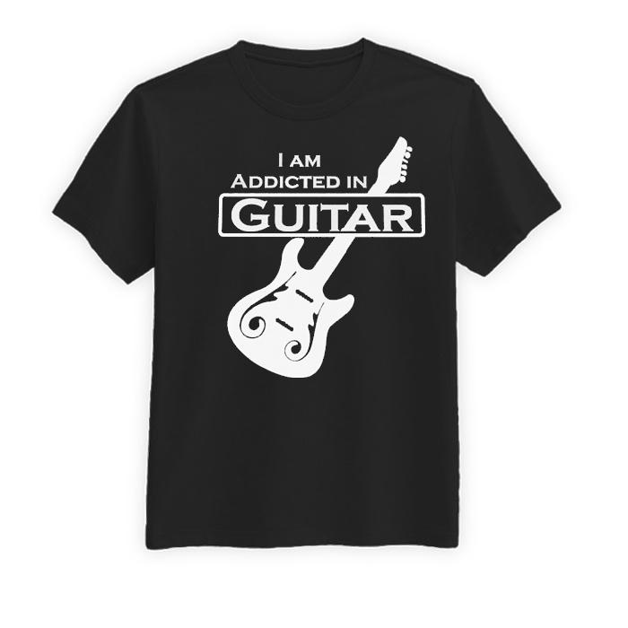 تیشرت آستین کوتاه مردانه طرح گیتار الکتریک کد BW13183